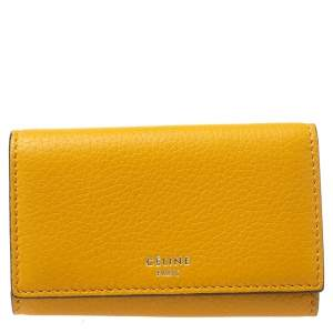 Celine Mustard Leather Leather Key Holder