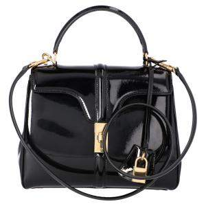 Celine Black Leather Small 16 Bag