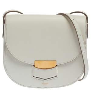 حقيبة كروس سيلين روتور صغيرة جلد أبيض