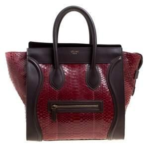 حقيبة يد سيلين لاغدج سويدي وجلد ثلاثية اللون ميني