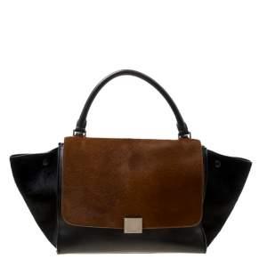 حقيبة سيلين ترابيز جلد ثلاثية اللون متوسطة