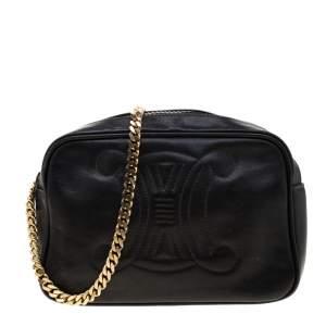 Celine Black Leather Crossbody Bag