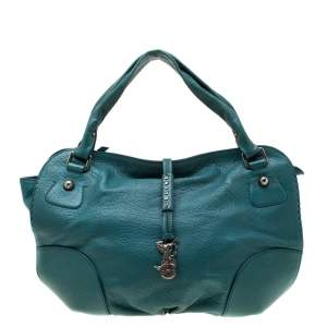 Celine Green Leather Hobo
