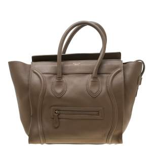 Celine Brown Leather Mini Luggage Tote