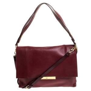 Celine Red Calfskin Leather Blade Flap Bag