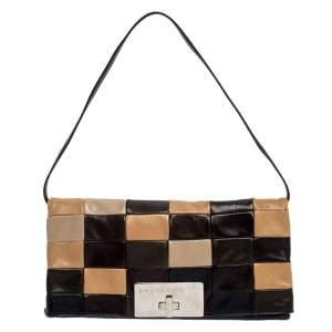 Celine Multicolor Leather Watch Me Dance Clutch Bag