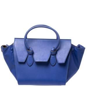 حقيبة سيلين ميني تاي جلد زرقاء