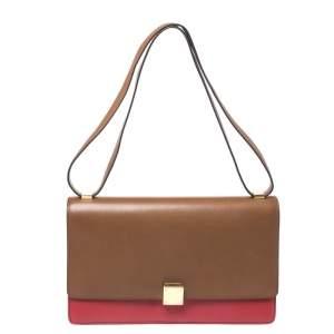 حقيبة سيلين Box كلاسيك كبيرة جلد حمراء/ بنية