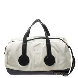 """حقيبة سيلين """"ويكايندر"""" فينتدج جلد أبيض و أسود"""