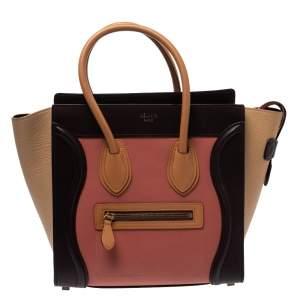 حقيبة يد لاغيدج سيلين مايكرو لاغيدج جلد ثلاثية اللون