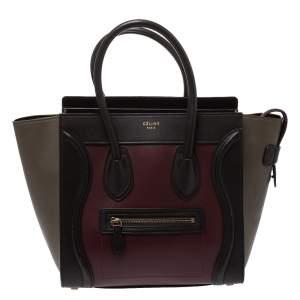 حقيبة سيلين ميكرو لاغيدج جلد ثلاثي اللون