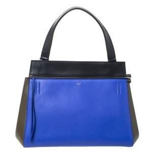 Celine Tri Color Leather Medium Edge Top Handle Bag