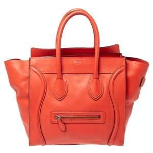 حقيبة سيلين ميكرو لاغيدج جلد برتقالية