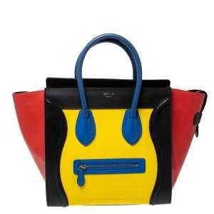 حقيبة يد سيلين ميني لاغيدج جلد متعددة الألوان