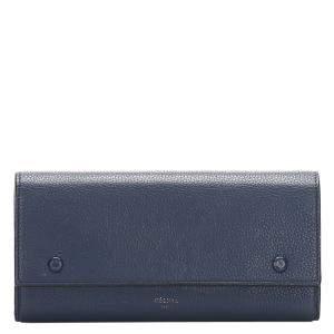 محفظة سيلين جلد أزرق