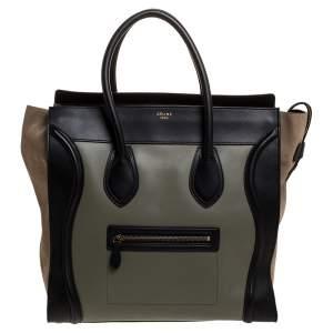 حقيبة يد سيلين لاغيدج  جلد وسويدي متعددة الألوان متوسطة