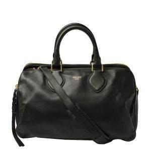 حقيبة سيلين ميني بوسطن جلد أخضر داكن