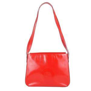 حقيبة كتف سيلين فينتدج جلد حمراء