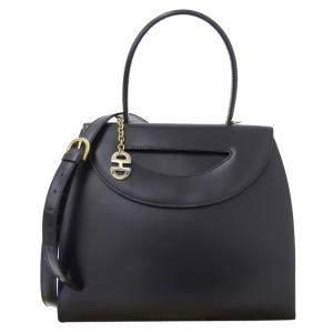 حقيبة سيلين فينتدج جلد أزرق كحلي