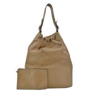 Celine Grey Leather   Hobo Bag