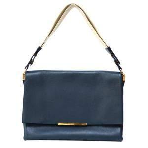 حقيبة كتف سيلين جلد أزرق