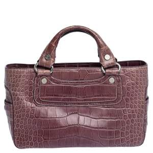 Celine Purple Crocodile Boogie Tote