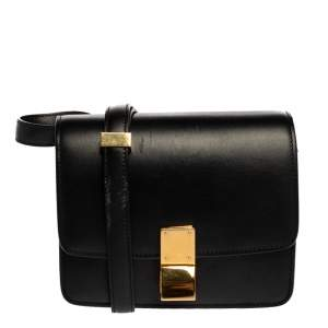 Celine Black Leather Small Box Bag