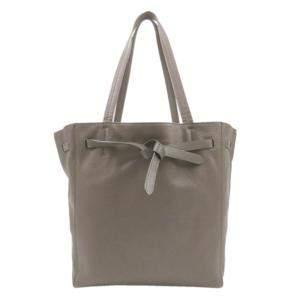 Celine Grey Leather Cabas Phantom Tote Bag