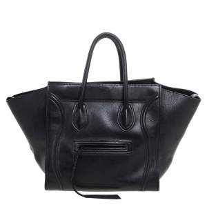 Celine Black Leather Medium Phantom Luggage Tote