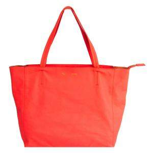 Celine Orange Horizontal Cabas Leather Tote Bag