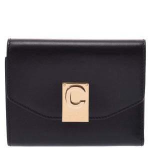 Celine Black Small Leather Wallet