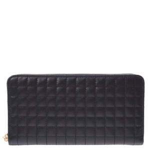 Celine Black Quilted Leather Wallet