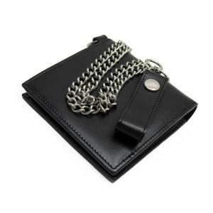 Celine Black Leather Chain Wallet