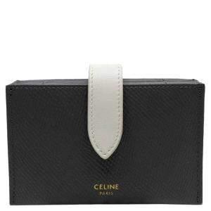 Celine Grey/White Leather Multi functional Wallet