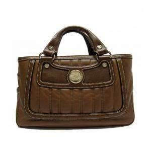 Celine Brown Leather Satchel Bag