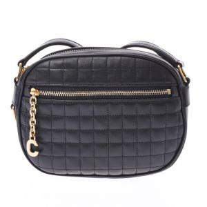 Celine Black Quilted Leather Shoulder Bag