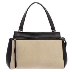 Céline Beige/Black Calfhair and Leather Small Edge Bag