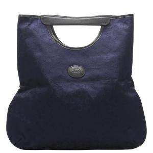 Celine Blue Macadam Canvas Tote Bag