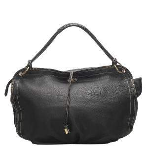 Celine Black Leather Bittersweet Large Bag