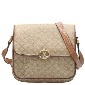 Celine Brown Leather Vintage Macadam Bag