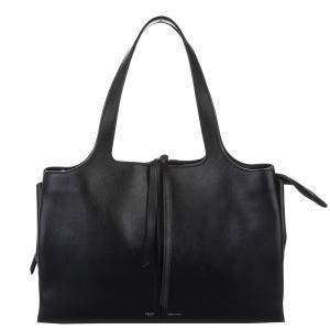 Celine Black Leather Trifold Bag