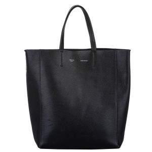 Celine Black Leather Vertical Cabas Small Bag