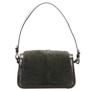 Celine Green Pony Hair and Leather Bag