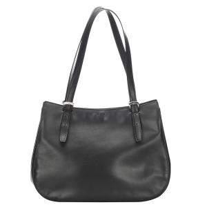 Celine Black Leather Hobo Bag