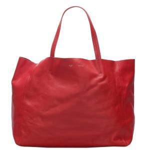 حقيبة سيلين هوريزونتال كاباس جلد عجل حمراء