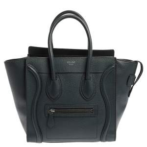 Celine Blue Smooth Leather Micro Luggage Tote