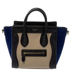 حقيبة يد سيلين لاغدغ نانو سويدي وجلد متعددة الألوان