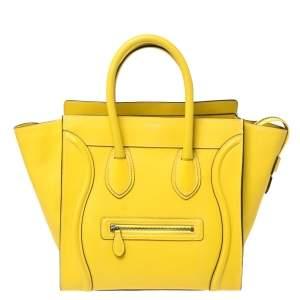 حقيبة لاغيدج يد سلين جلد صفراء