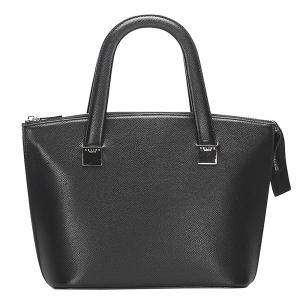 Celine Black Calf Leather Satchel Bag