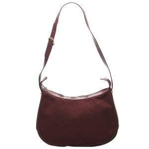 Celine Red Suede Macadam  Shoulder Bags